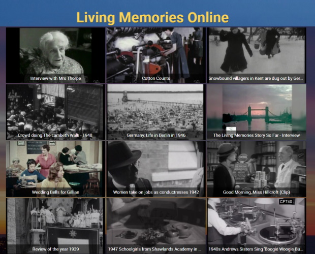 Living Memories Online: Using archive films to help trigger memories and reduce isolation